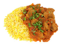 Lamb Rogan Josh Curry With Rice Royalty Free Stock Photography