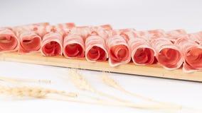Fresh cut lamb rolls royalty free stock photo