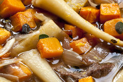Lamb and Root Vegetable Casserole Royalty Free Stock Photos