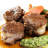 Lamb Rosette with Pesto Stock Photos