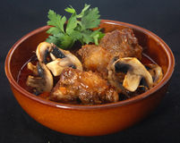 Lamb's tail with mushroom sauce Royalty Free Stock Image