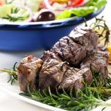 Lamb and Salad Stock Photos