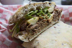 Lamb sandwich Royalty Free Stock Images