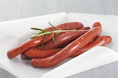 Lamb sausage with rosemary Royalty Free Stock Photos