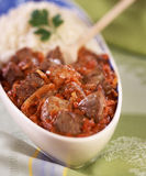 Lamb saut  with curry Royalty Free Stock Image