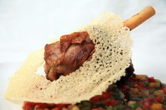 Lamb shank with bone Stock Photography