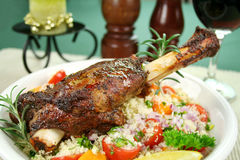 Lamb Shank And Couscous Stock Photos