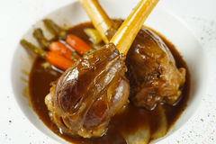 Lamb shank. Delicious lamb shank for the supper Stock Images