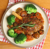 Lamb Shank Dinner Royalty Free Stock Photography