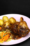 Lamb shank dinner meal Stock Photography
