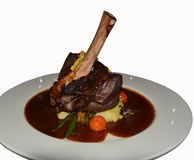 Lamb shank meal Royalty Free Stock Image