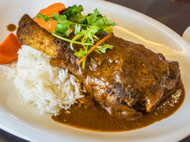 Lamb shank rendang Stock Photo