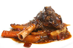 Lamb Shank with Roasted Vegetables Royalty Free Stock Images