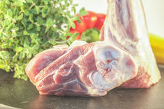 Lamb shank Royalty Free Stock Photos