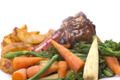 Lamb Shank with vegetable Royalty Free Stock Photos