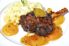 Lamb Shank on White Royalty Free Stock Photos