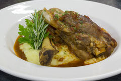 Lamb shanks meal Royalty Free Stock Images