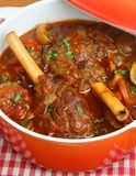 Lamb Shanks Stew in Casserole Dish Royalty Free Stock Photo