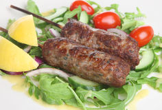 Lamb Shish Kebabs Royalty Free Stock Photo