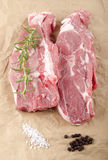 Lamb shoulder chops on brown paper Stock Photography