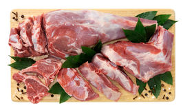 Lamb, shoulder slices Royalty Free Stock Images