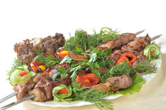 Lamb on skewers Royalty Free Stock Images