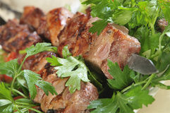Lamb on skewers Stock Photography