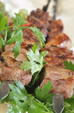 Lamb on skewers Stock Photos