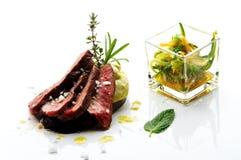 lamb skivad steak Arkivfoto