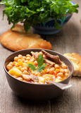 Lamb soup chickpeas Stock Image