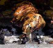 Lamb on the spit Stock Photography