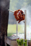 Lamb on the spit Stock Photo