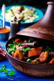 Lamb squash and apricot tagine.style rustic Royalty Free Stock Image