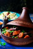 Lamb squash and apricot tagine.style rustic Stock Images