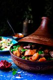 Lamb squash and apricot tagine.style rustic Stock Image