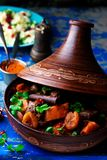 Lamb squash and apricot tagine.style rustic Stock Photo
