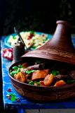 Lamb squash and apricot tagine.style rustic Royalty Free Stock Images
