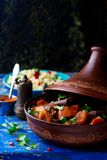 Lamb squash and apricot tagine.style rustic Stock Photos