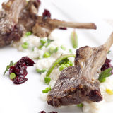 Lamb steak Stock Images