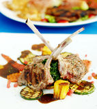 Lamb steak, Italian food Stock Photos
