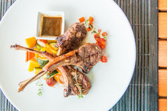 Lamb steak or lamb cutlets Stock Image