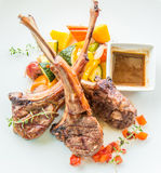 Lamb steak or lamb cutlets Royalty Free Stock Images