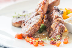 Lamb steak or lamb cutlets Stock Photo