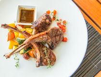 Lamb steak or lamb cutlets Stock Photography