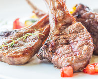 Lamb steak or lamb cutlets Royalty Free Stock Photos