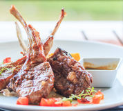Lamb steak or lamb cutlets Royalty Free Stock Photography