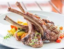 Lamb steak or lamb cutlets Royalty Free Stock Photo