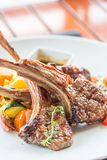 Lamb steak or lamb cutlets Royalty Free Stock Image