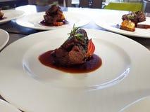 Lamb steak portion stock images