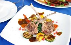 Lamb steak with sauce Stock Photo